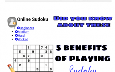5 benefits of playing Sudoku